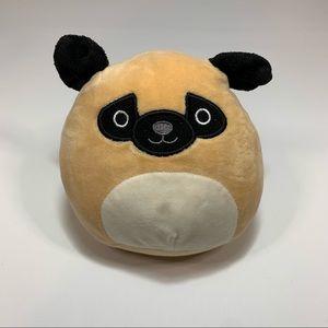 "Squishmallow Kellytoy Prince the Pug 5.5"" Plush"